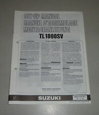 Instructions de montage/set up Manual suzuki tl 1000 s stand 12/1996