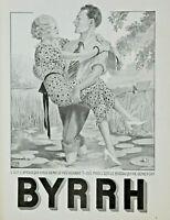 PUBLICITÉ DE PRESSE 1934 C'EST BYRRH QUI ME REND FORT