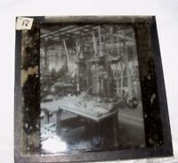 VINTAGE MAGIC LANTERN SLIDE OF FACTORY MACHINERY MECHANICAL STEAMPUNK