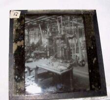 VINTAGE MAGIC LANTERN SLIDE OF FACTORY MACHINERY MECHANICAL STEAMPUNK