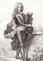 Portrait XIXe Jacques François De Chastenet De Puységur Maréchal Siège Barcelone