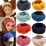 Womens Knitted Headband Headwrap Earmuff Ear Warmer Hairband Winter Muff Band AU