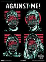 AGAINST ME! / CAKES DA KILLA 2015 NEW JERSEY STONE PONY CONCERT TOUR POSTER
