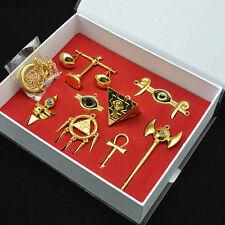 Yu-Gi-Oh!Millennium Items Puzzle Eye Ring Necklace Keychain Pendant 8pcs Set+Box
