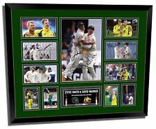 STEVE SMITH & DAVID WARNER #2 SIGNED LIMITED EDITION FRAMED MEMORABILIA