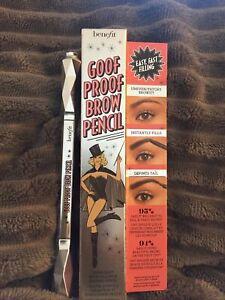 Benefit Medium Brown Eyebrow Pencil Goof Proof Brow Pencil 5 Brand New