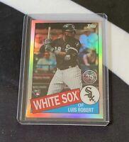 2020 Topps Chrome Luis Robert RC Rookie White Sox 35th Anniversary