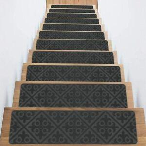 "Non-Slip Carpet Stair Treads 8"" x 30"" (Gray)"