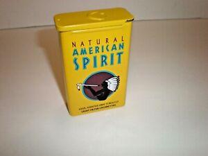 Natural American Spirit EMPTY Cigarette Collectors Tin; YELLOW SLIDE TOP, NOS