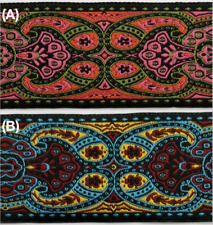 """1-7/8"""" Jacquard Woven Floral Ribbon Trim - 9 Continuous Yards - Many Colors!"""