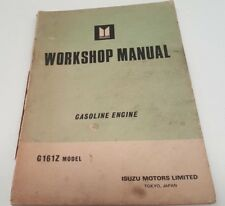 1970s ISUZU G161Z ENGINE Factory Workshop Manual HOLDEN GEMINI