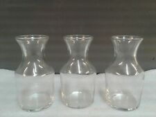 Small Clear Glass Bottles Vintage Style Bud Vase Wedding, party have 9 available