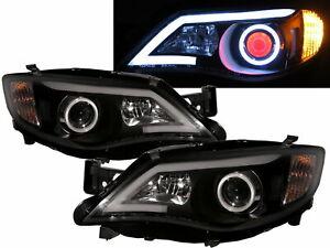 IMPREZA GE GH GR GV MK3 08-13 4D/5D COB Projector Headlight Black for SUBARU LHD