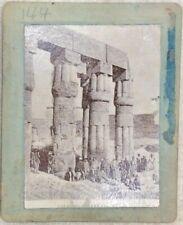 AUTHENTIC ANTIQUE ALBUMEN 1800s PHOTOGRAPH PHOTO ANCIENT SCENE LUXOR EGYPT IMAGE