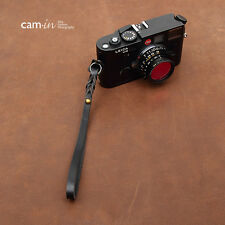 Black Leather Cam-in Camera Wrist Strap w/ Ring Connection CAM3001 UK stock