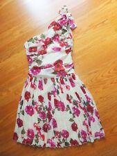 Alberta Ferretti Macys One Shoulder Floral Dress Sz0/XS