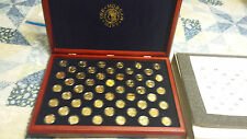 Complete 24K Gold Plated State Quarter Set In A BEAUTIFUL Morgan Mint Case