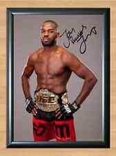 Jon Jones Bones Shogan UFC MMA Fighting GSP Signed Autographed A4 Poster Photo