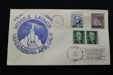 SPACE COVER 1974 MACHINE CANCEL MISSILE LAUNCH ATLAS ICBM VANDENBERG (6177)