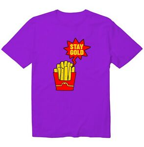 Stay Gold French-Fried Potatoes Funny Cool Unisex Kid Youth Graphic T-Shirt