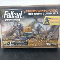 Fallout Wasteland Warfare Miniatures Brotherhood Of Steel Elder Maxson & Kells