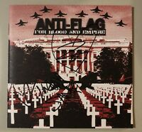 Anti-Flag Justin Sane Chris No. 2 Signed Autographed For Blood And Empire CD
