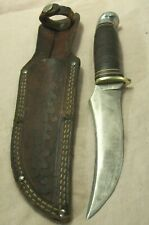 1950's~WESTERN~BOULDER, COLO.~L39~HUNTING & FIGHTING KNIFE w/LEATHER SHEATH~