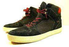 VINTAGE Original Supra Vaider Black & Red Buffalo Plaid Skate Shoes Mens SZ 10.5