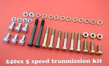 KIT 240SX KA24DE S13,S14 TRANSMISSION BELL HOUSING  BOLTS 5 SPEED SWAP 240 SX