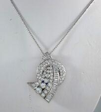 4.25 ct Diamond & Platinum Pendant Necklace - N6296