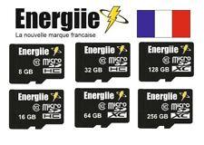 CARTE MEMOIRE MICRO SD SDHC SDXC 256 128 64 32 16 8 GO GB CLASSE 10 ENERGIIE