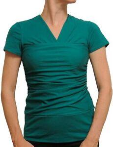 Vija Design Short Sleeve Skin To Skin Kangaroo T-Shirt & Nursing Top Jade M