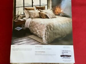 Frette at Home Cervino Queen Duvet Cover  New