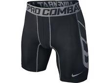 Nike hombres Pro Combat Hypercool Pantalones Cortos Negro/Gris 13-15 años