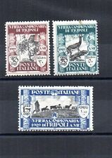 ITALIA REGNO COLONIE, LIBIA, 3a  FIERA TRIPOLI, 1929 SASS 81-82, 84 MNH**/MLH*