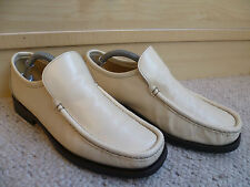 Patrick Cox Wannabe full leather loafer UK 6 39.5 mens vtg cream beige moccasin