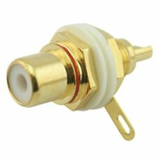 GOLD PLATED PHONO SOCKET CONNETTORE AUDIO BIANCO