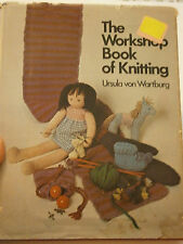 The Workshop Book of Knitting Hardcover Pattern 1973 Headband Baby Mittens Doll
