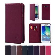 32nd Clásico Cuero Genuino Fino Funda Samsung Galaxy Modelos