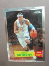 CARMELO ANTHONY 2008 NBA NUGGETS TOPPS CHROME SILVER #15 MINT+ 50/50 BOARDERS