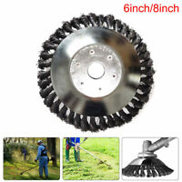 Weed Brush Trimmer Head Steel Wire Grass Cutter Lawn Mower Replacement Tool New