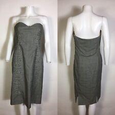 Rare Vtg New Gianni Versace Gray 1998 Dress 44 L