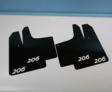 Rallyflapz 4mm PVC Mudflaps Peugeot 206 Black with 206 Logo in White