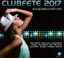 CLUBFETE 2017 - 63 CLUB DANCE & PARTY HITS  3 CD NEW+ AXWELL/COLDPLAY/SCOOTER/+