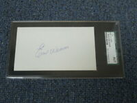 Earl Weaver Autographed Index Card JSA Authenticated Encapsulated