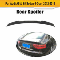 Carbon Fiber Rear Trunk Lid Spoiler Tail Wing Fit for Audi A5 /S5 4Door 12-16