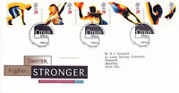9 JULY 1996 OLYMPIC GAMES ROYAL MAIL FIRST DAY COVER BUREAU SHS (x)