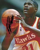 Dominique Wilkins Autographed / Signed Free Throw Atlanta Hawks 8x10 Photo