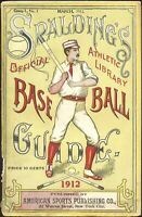 1912 Spalding Baseball Guide 1st Mention Shoeless Joe Jackson S/B HOF