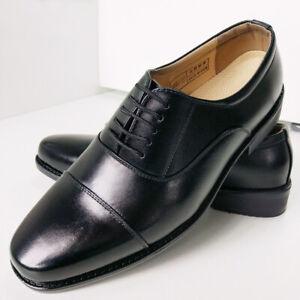 Mens Black Faux Leather Business Formal Dress Suit Fashion Lace Up Oxfords Shoes